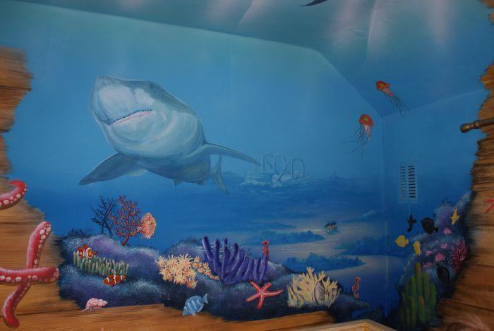 Best Bedroom Ideas Full Wallpaper Full Under Sea Themed 400 x 300