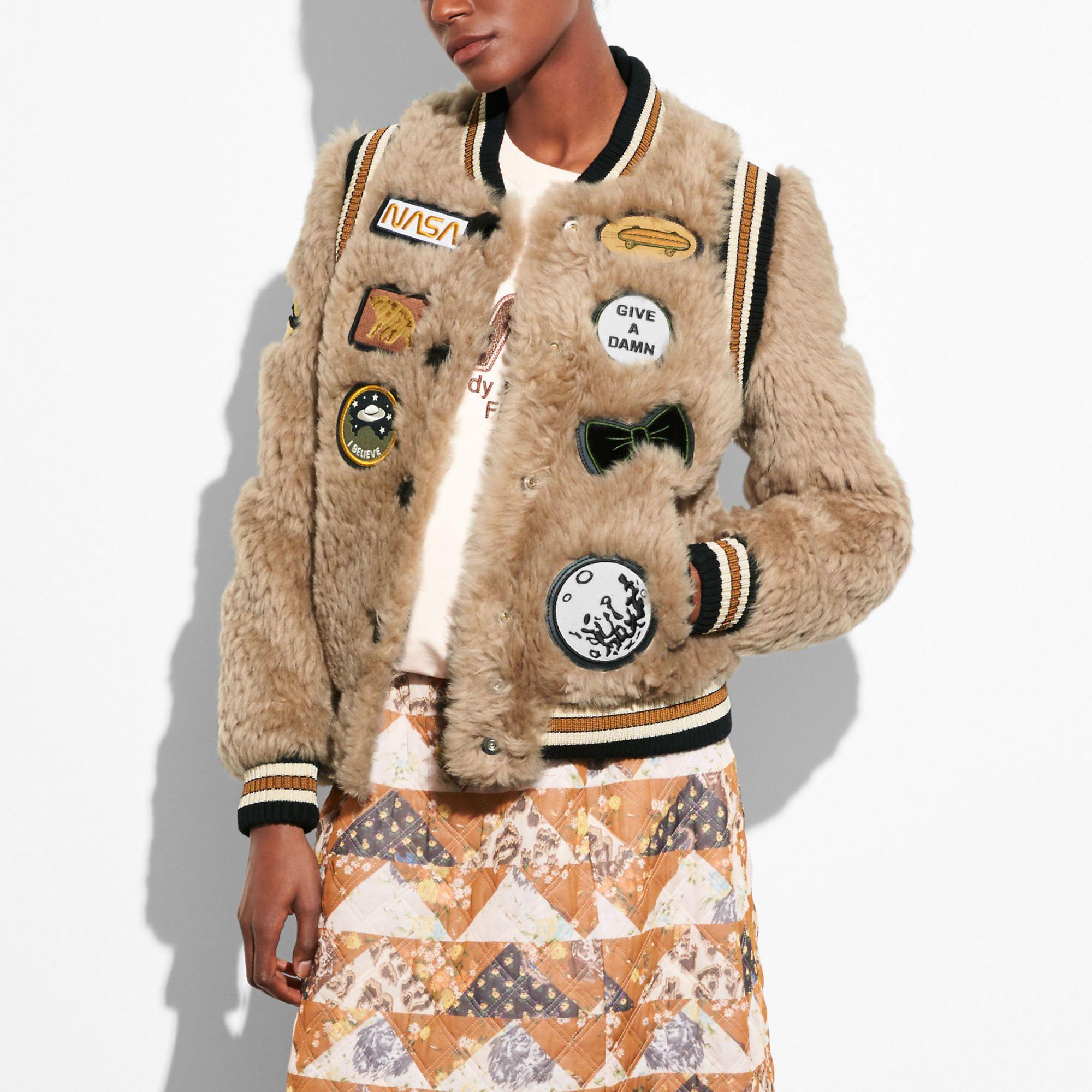 Coach Official Site Designer Handbags Wallets Clothing Menswear Shoes More Varsity Jacket Ski Jacket Women Jackets [ 2000 x 2000 Pixel ]