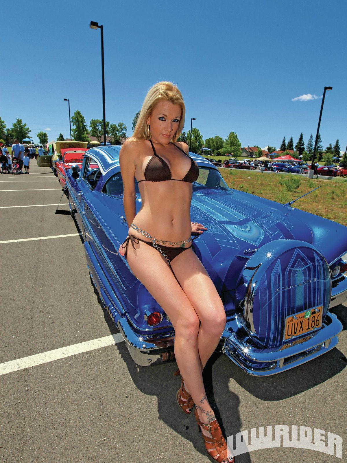 car Girl show models lowrider
