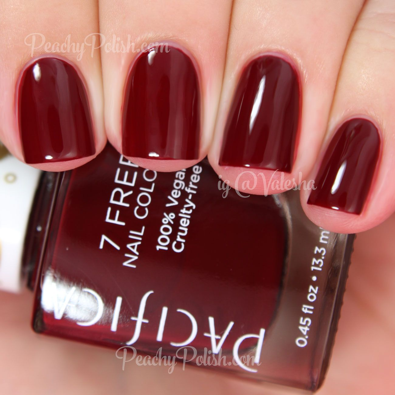 "Deep Wine Nail Polish: Peachy Polish ""Red Red Wine"" Is A"