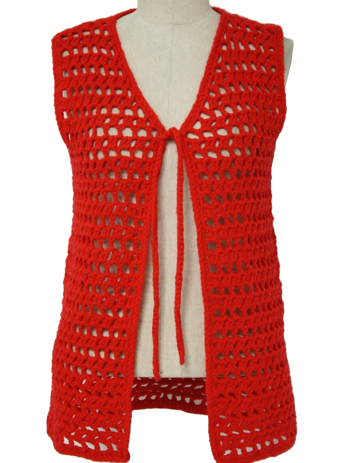 1970s Home Crafter Womens Crochet Sweater Vest Memories Crochet