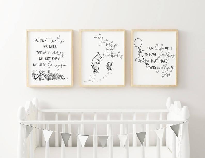x4 Print Be Brave Monochrome Wall Art Kids Nursery Black /& White Personalised