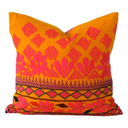 Love the orange! Kimberly Pillow from the Filling Spaces event at Joss and Main!