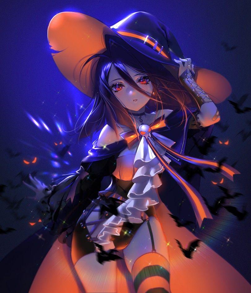 Witch Girl Anime Witch Anime Halloween Kawaii Anime