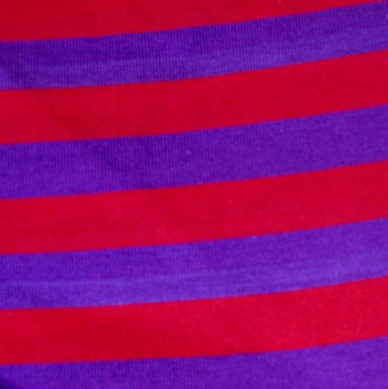 red and purple stripes cotton knit fabric (100% cotton, jersey ...