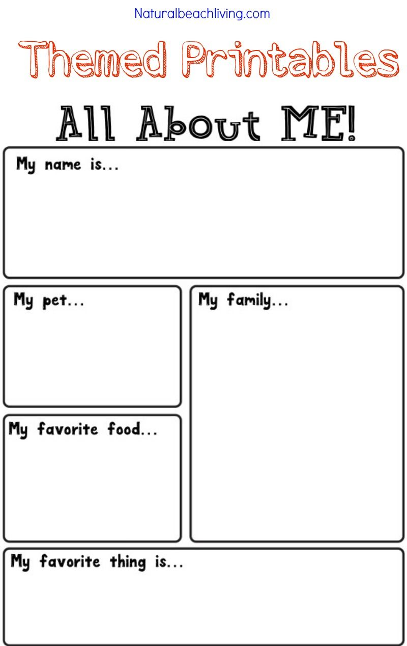 picture about All About Me Free Printable called All In excess of Me Sport Topic for Preschool Kindergarten