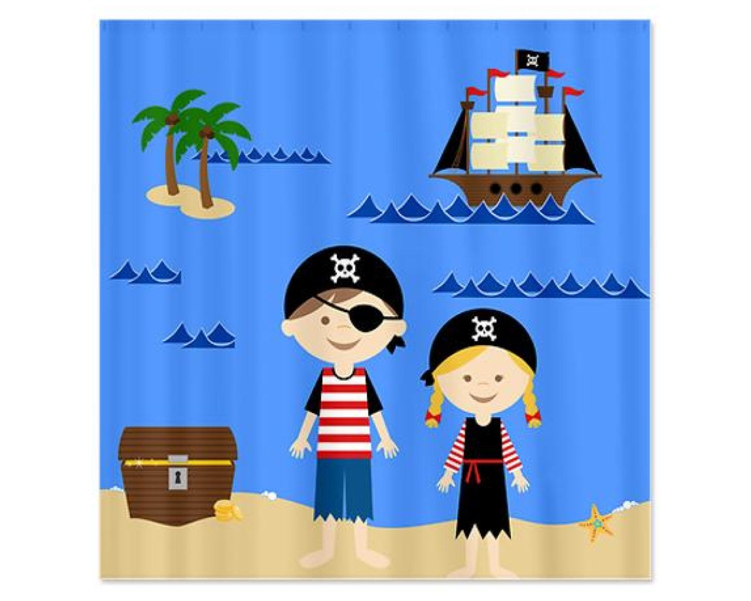Top kids pirate shower curtain pirate bathroom decor kids pirate - Pirate Kids Personalized Kids Shower Curtain Children S Bathroom Shower Curtain By Kidsshower On Etsy