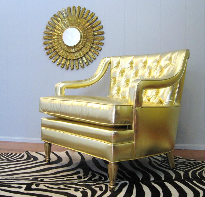 Gold Glam Chair & Zebra