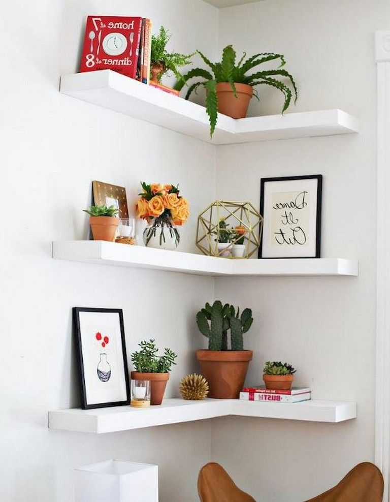 24 Motivate Diy Small Apartment Corner Shelves Ideas Corner