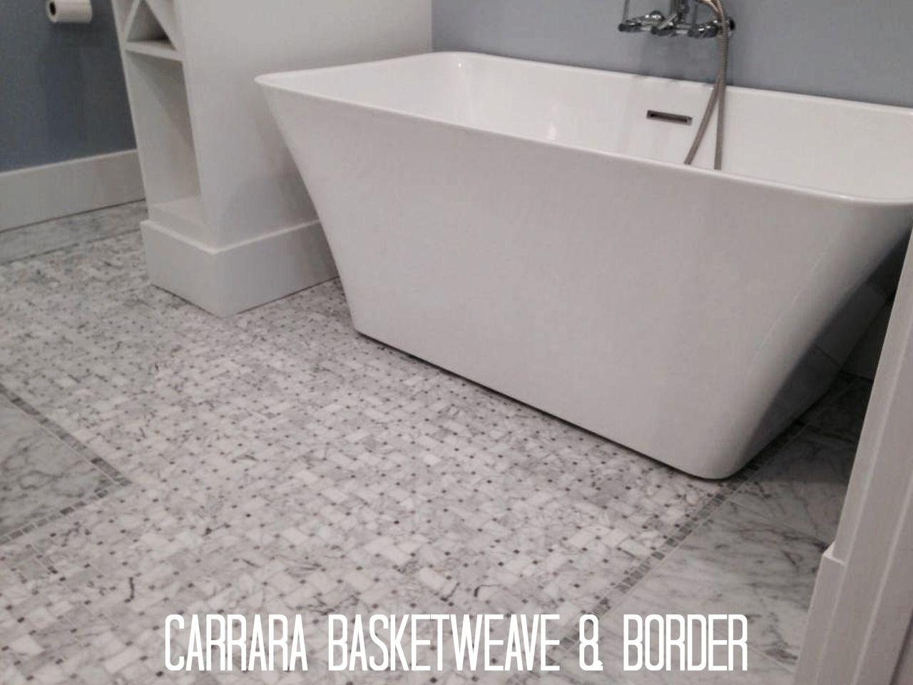 Basketweave tile bathroom pictures - Carrara Basketweave Mission Accomplished Lookout Mountain Tn Mission Stone Tile