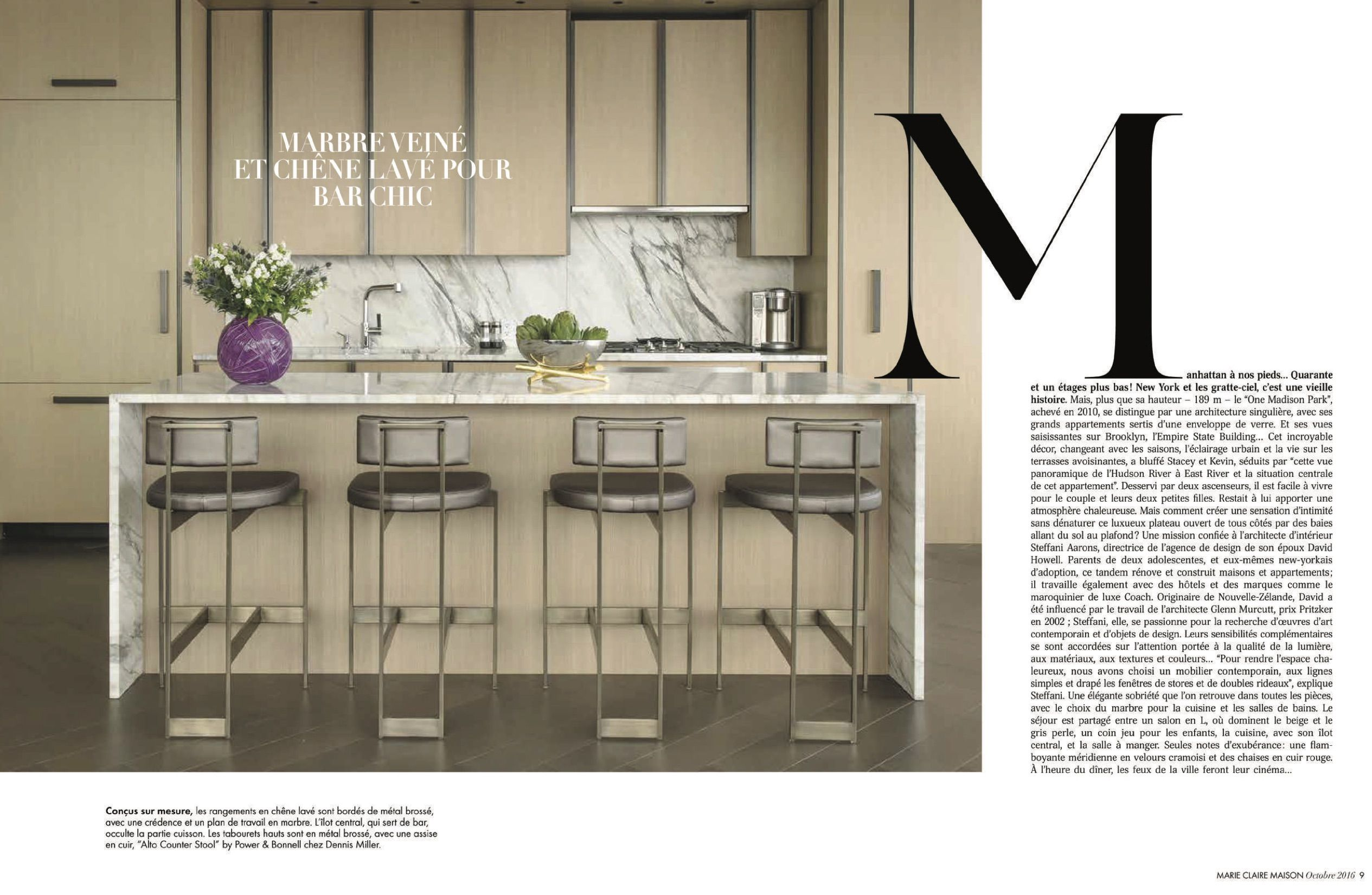 Marie Claire featuring Alto Stools by Powell & Bonnell. #seating ...