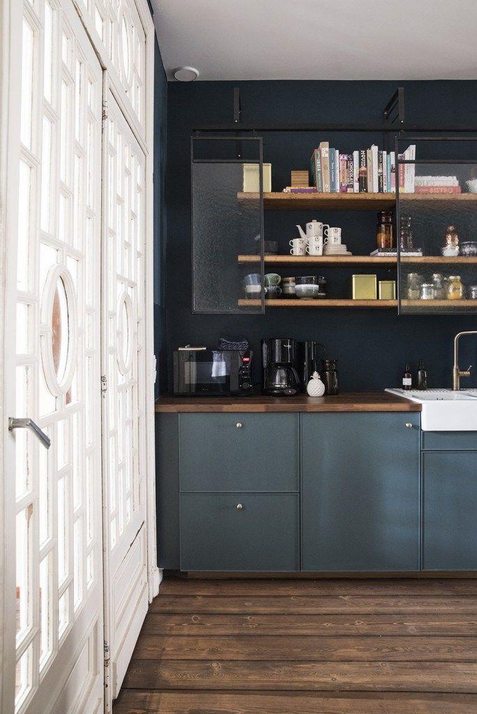 Deco Cuisine Blanche Et Bleue Blog Deco Renovation Cuisine Cuisine Bleu Canard Et Cuisines Maison