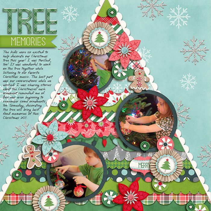 Tree Memories - Super Layout für Weihnachtsbilder