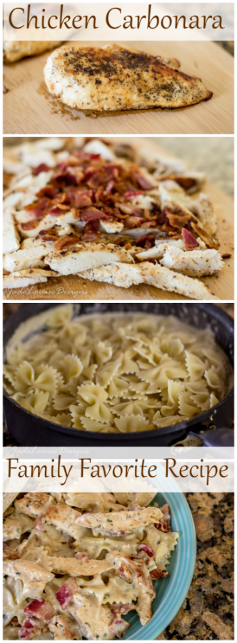 Chicken Carbonara Mouthwatering and family friendly Chicken Carbonara Recipe! An easy way to create a gourmet chicken dinner! Plus great ways to save on buying Chicken!Mouthwatering and family friendly Chicken Carbonara Recipe! An easy way to create a gourmet chicken dinner! Plus great ways to save on buying Chicken!