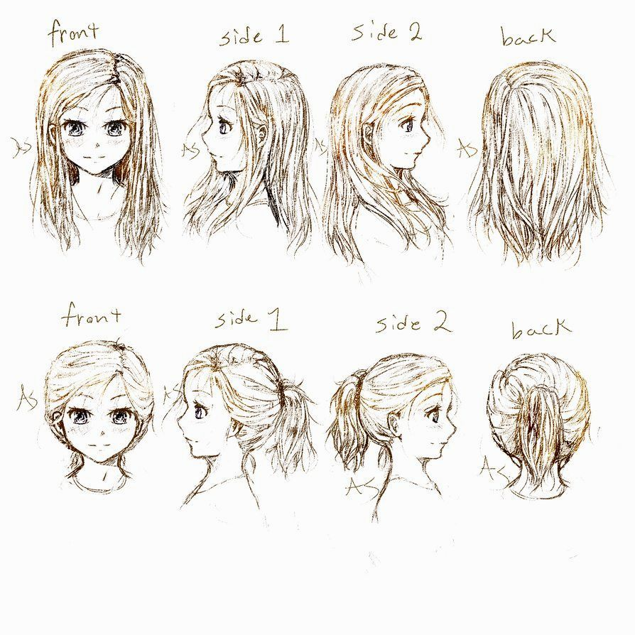 Anime hairstyles side view ideas