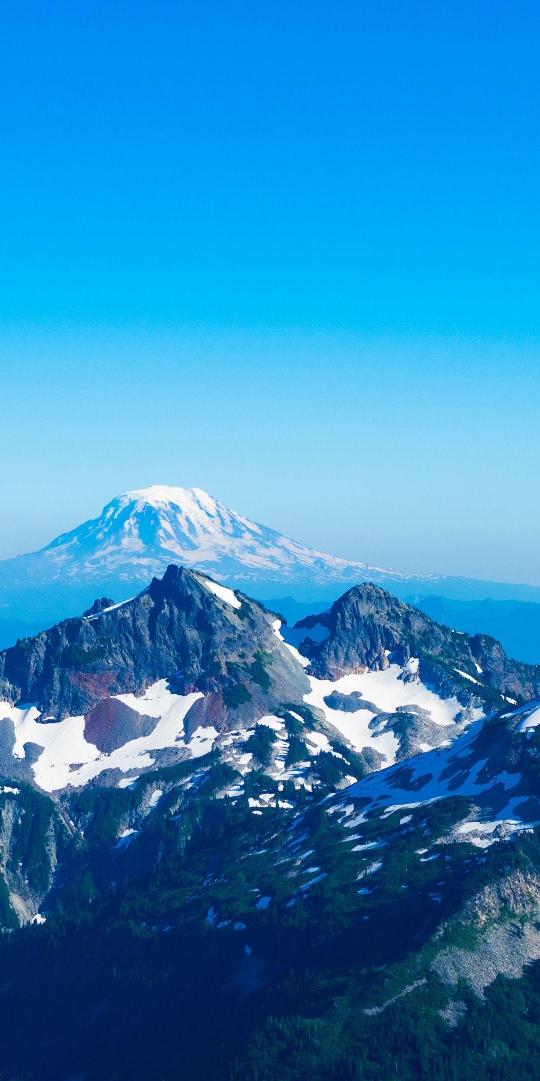 Mountains Blue Sky Landscape 1080x2160 Wallpaper Blue Sky Wallpaper Wallpaper Earth Landscape Wallpaper