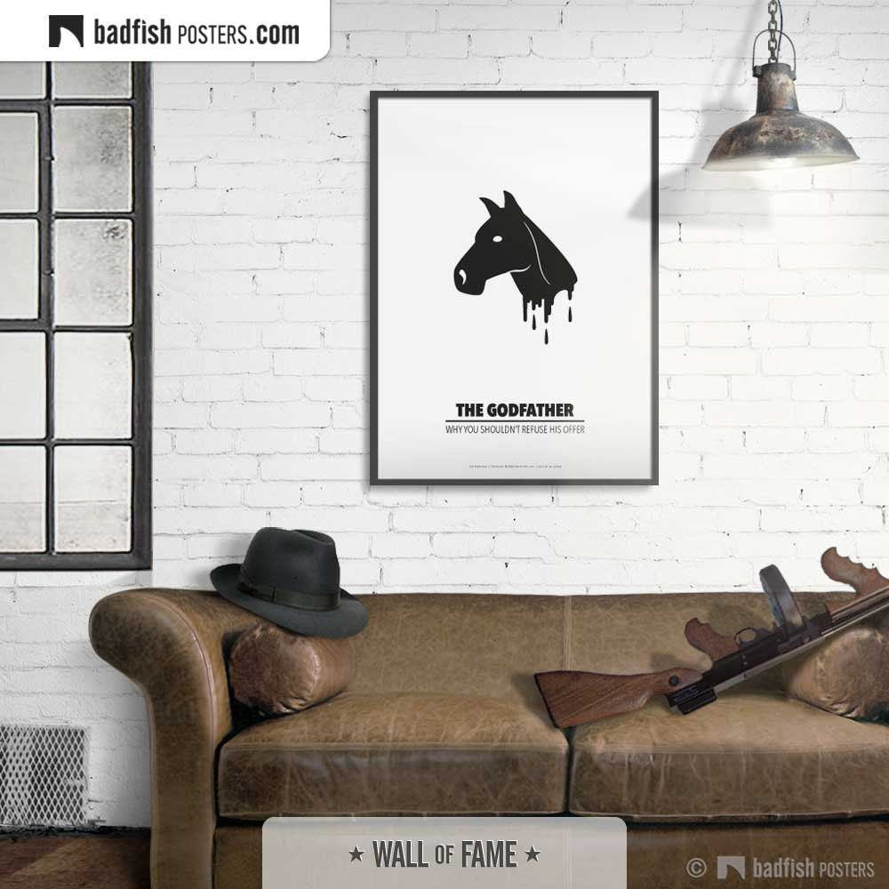 The Godfather Print, Alternative Movie Poster, Black Horse