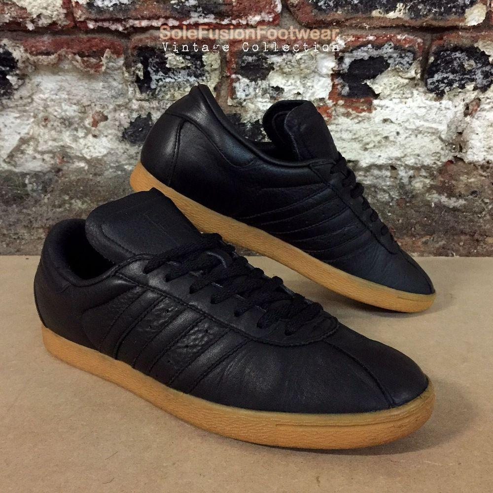 adidas Originals Tobacco Trainers Black sz 10 Rare FG Sneakers US 10.5 EU  44 2  6e137bfe1