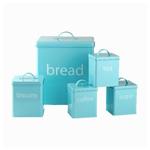Paint Tins I Have Pastel Blue Kitchen Storage Set Bread