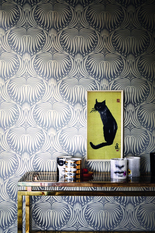 Farrow and Ball metallic wallpaper - Lotus   Wallpaper ...