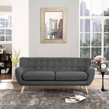 Modway Remark Modern Upholstered Sofa, Multiple Colors, Gray