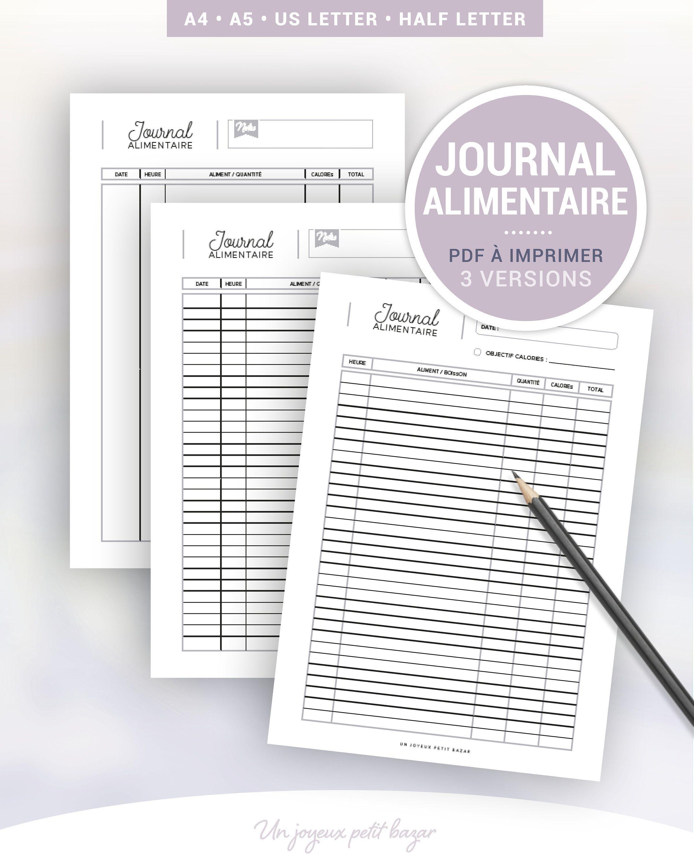 tenir un journal alimentaire pour perdre du poids