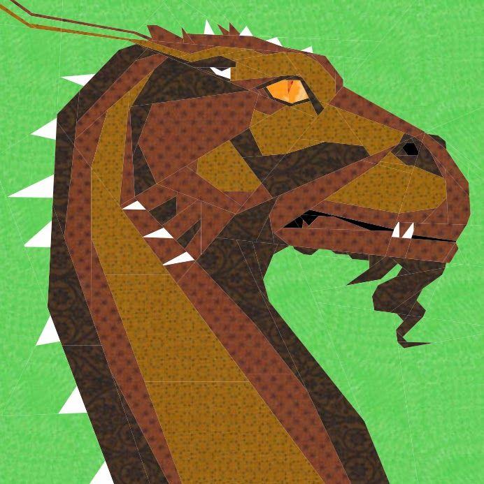 Glaedr Dragon -- Foundation paper pieced quilt pattern free pdf ...