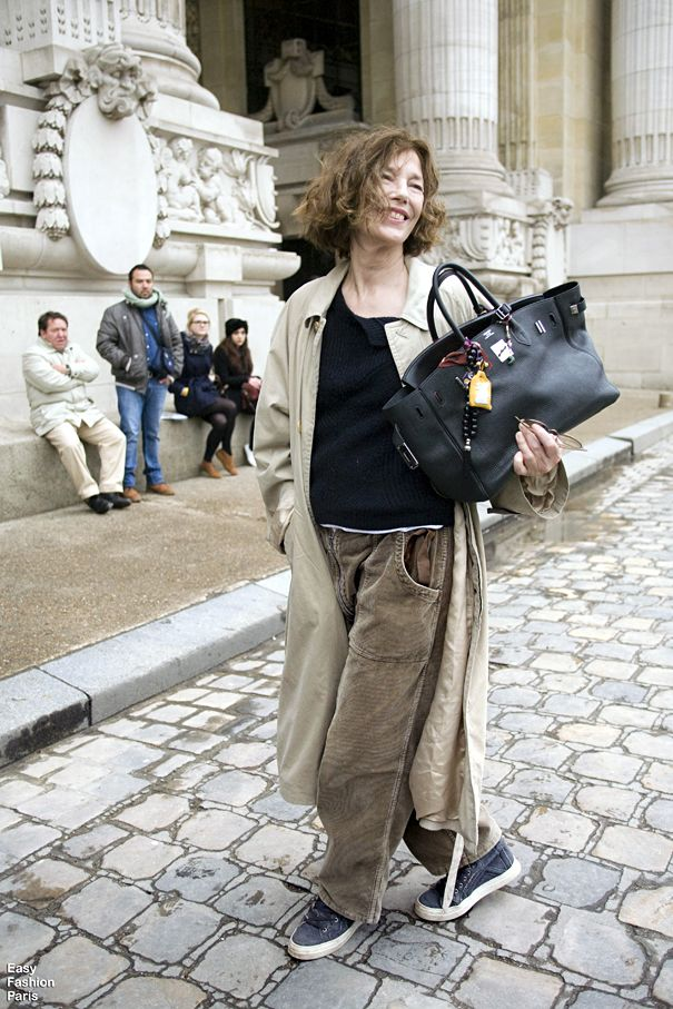 b80a78c170 Jane Birkin -Paris..The woman who insired Hermes to design the