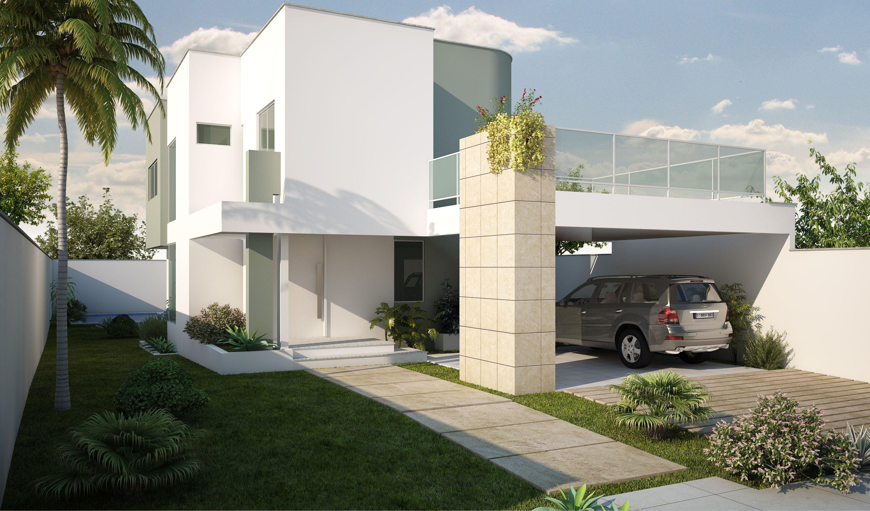 Cs140622 6 fachadas de casas com garagem fotos e for Modelos de fachadas de casas