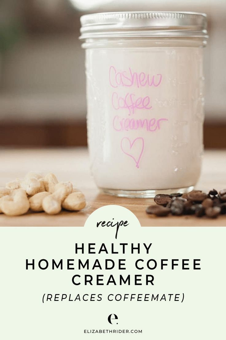 Healthy homemade coffee creamer replaces coffeemate