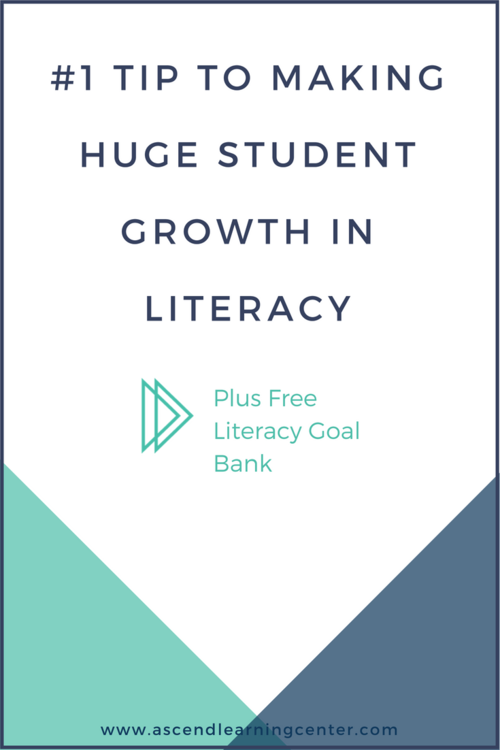 1 Tip To Making Huge Student Growth In Literacy Smarter Intervention Student Growth Literacy Intervention Middle School Reading