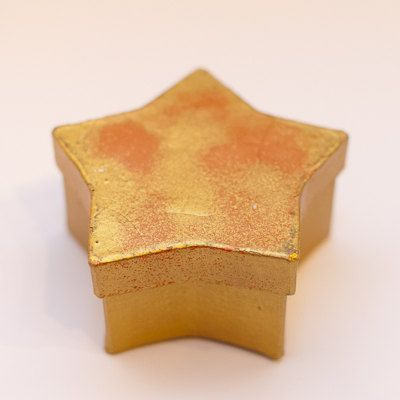 Paper Decorative Boxes Gold Star Paper Mache Decorative Gift Boxmixedmediadesigns1