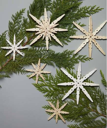 snowflake decorations that go way beyond paper cutouts