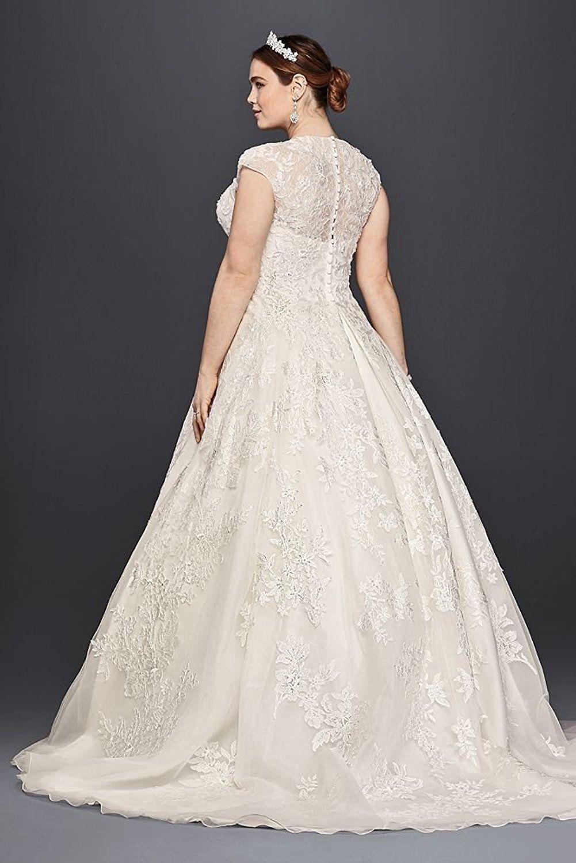 Tulle Oleg Cassini Plus Size Ball Gown Wedding Dress Wedding Dress ...