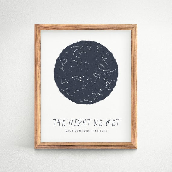 the night we met star map poster