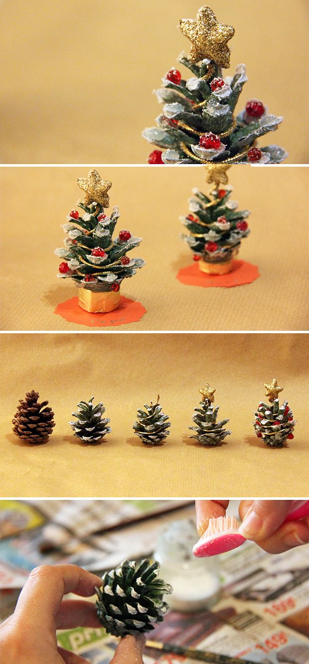 An easy #tutorial to create cute #placeholders from #pine #cones!
