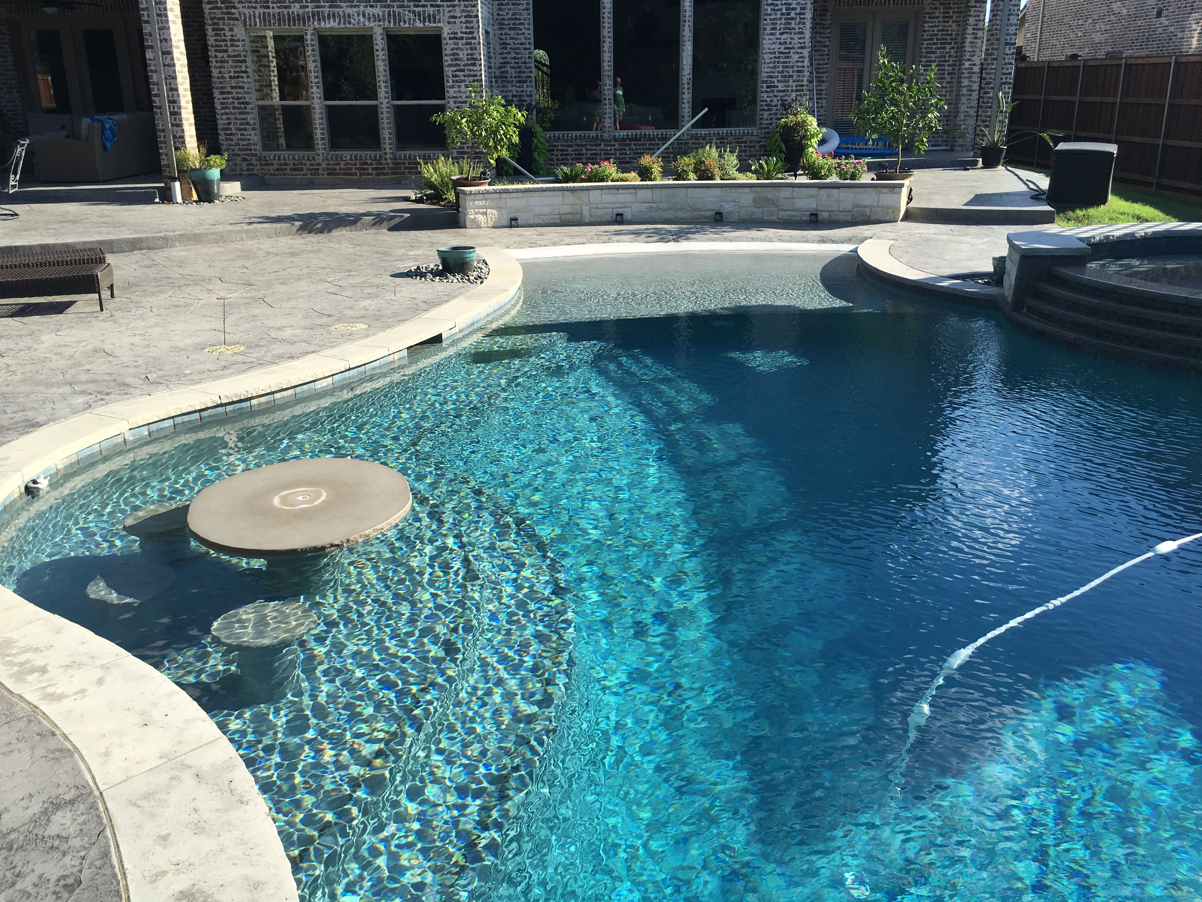 Diamond Brite French Gray Texas Traditions Outdoors Custom Pool Builder In Denton Dallas Fort Worth And All Areas Surounding D Pool Builders Pool Pool Colors