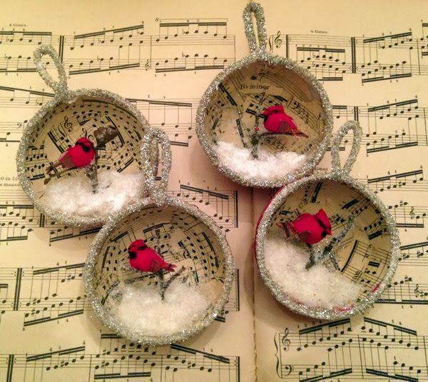 *Rook No. 17: recipes, crafts & whimsies for spreading joy*: Holiday Craft: Winter Bird Diorama Ornament