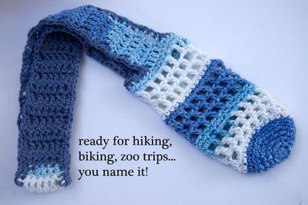 Free Pattern Stainless Steel Water Bottle Sling Free Crochet