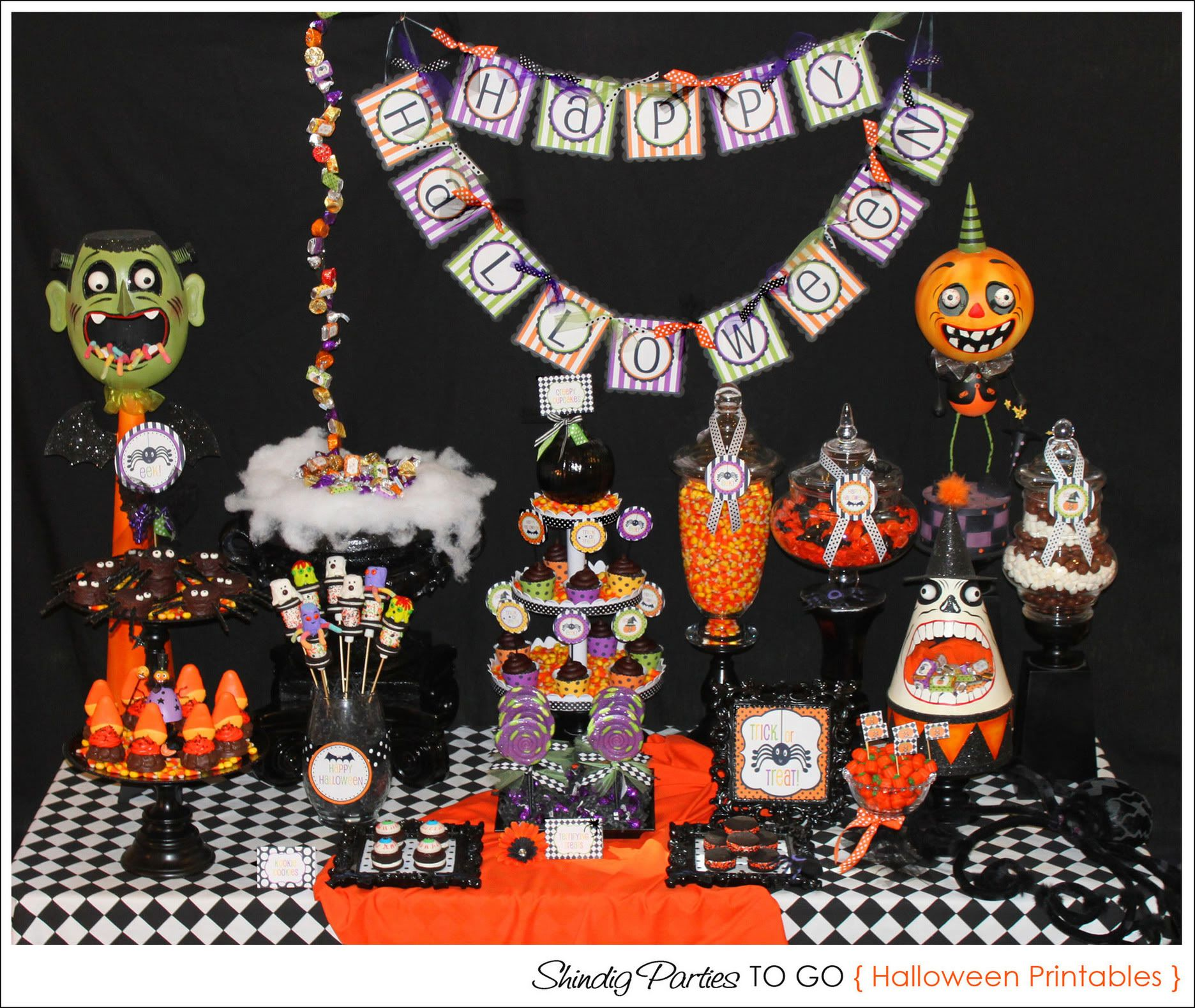 Halloween tablescape Hau\u0027oli La Heleui! Pinterest Halloween - Halloween Table Decorations Pinterest