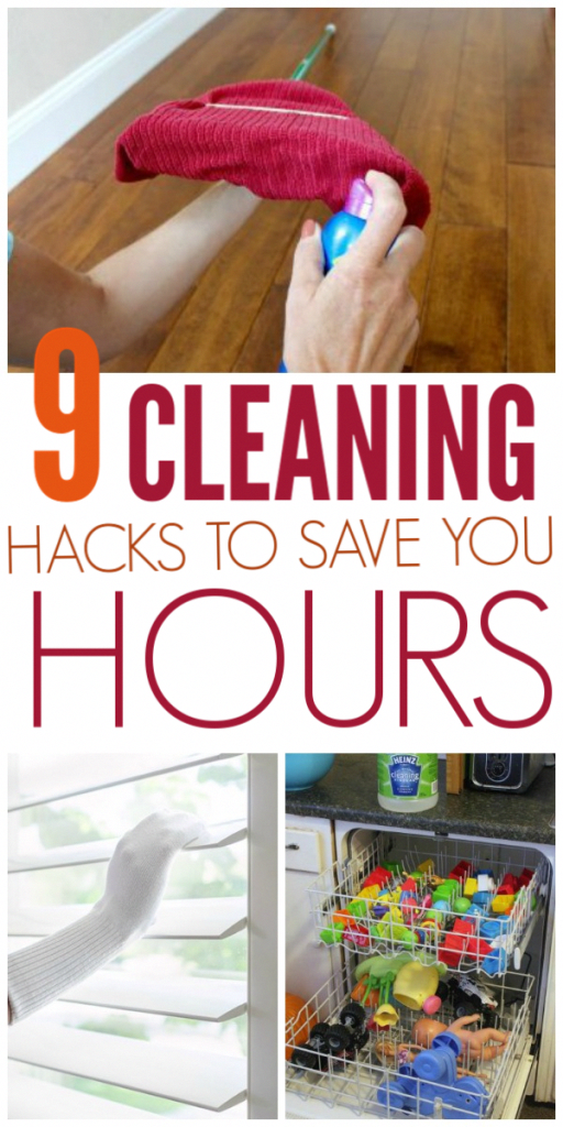 9 Cleaning Hacks To Save Time #DIYhomedecor
