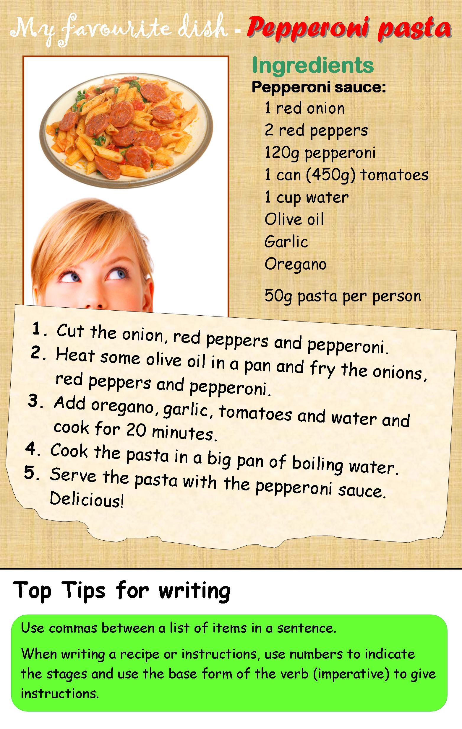 A recipe english recipes and writing skills a recipe forumfinder Images