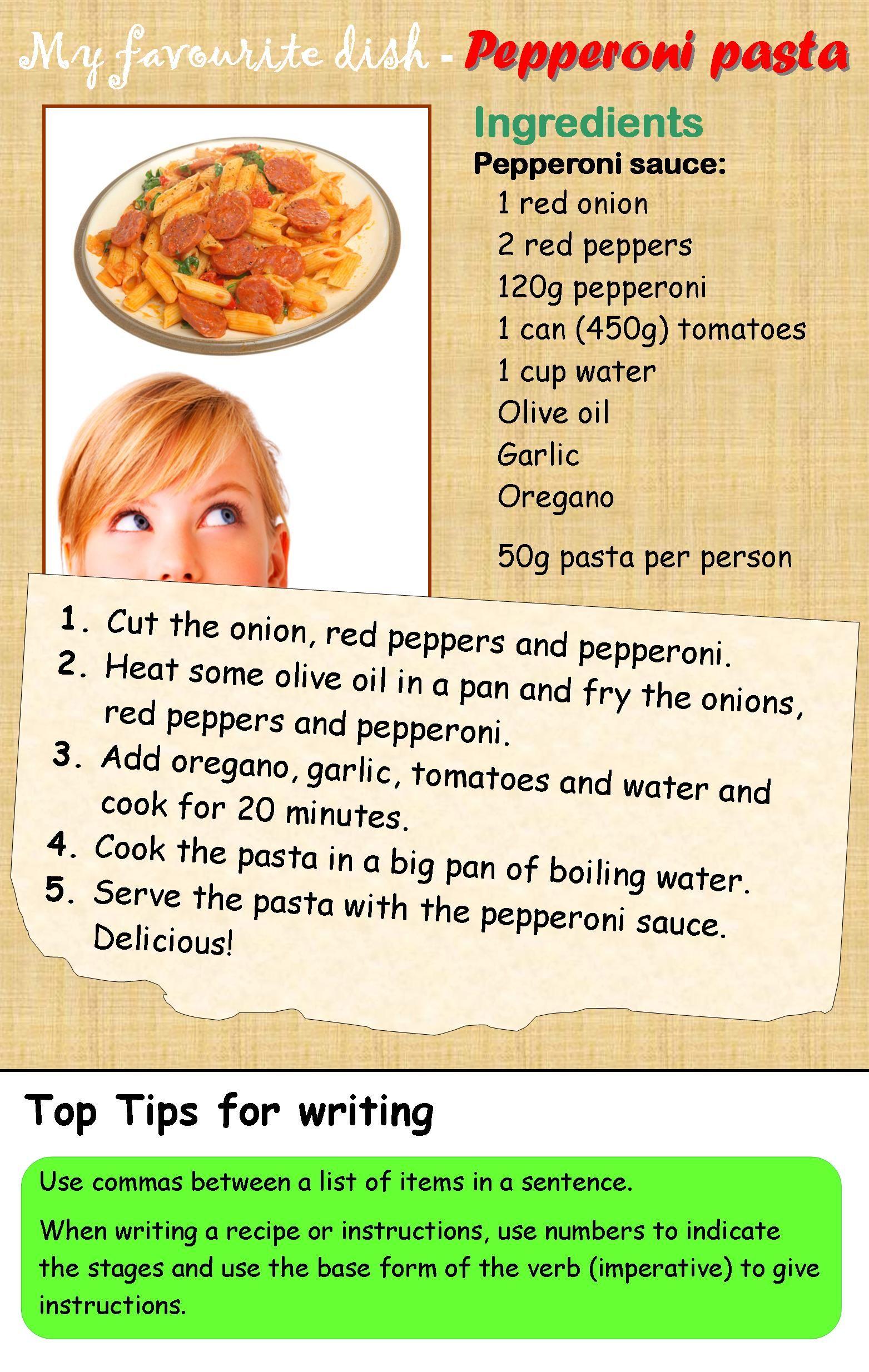 A recipe learnenglishteens writing ideas pinterest english a recipe learnenglishteens forumfinder Choice Image