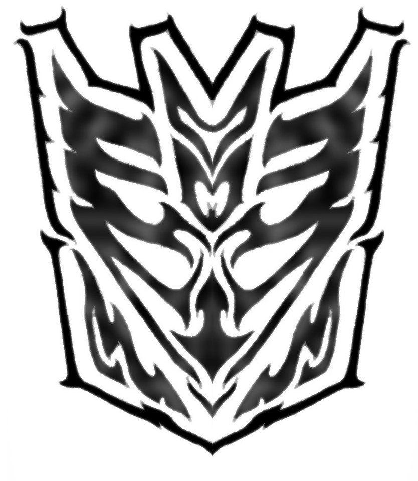 Tribal Decepticon Symbol By Blitzkrieg1210 Transformers