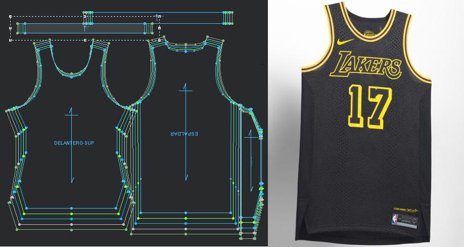 Moldes Patrones De Nba Uniforme Cyti Edition Lakers Patrones Patrones De Costura Pdf Ropa De Pareja