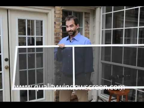 How To Measure And Install Window Solar Screen Casement Turn