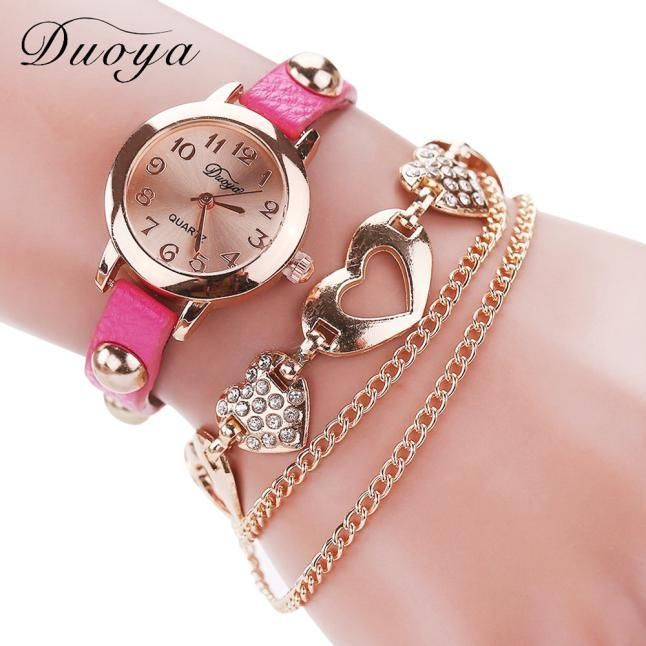 121b7975cdb Duoya Femmes Mode Casual Bracelet En Cuir Montre-Bracelet Femmes Robe  Feature  100% brand new and high quality Gender  Women