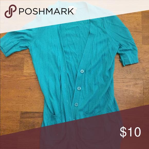 Turquoise cardigan | Turquoise cardigan and Turquoise