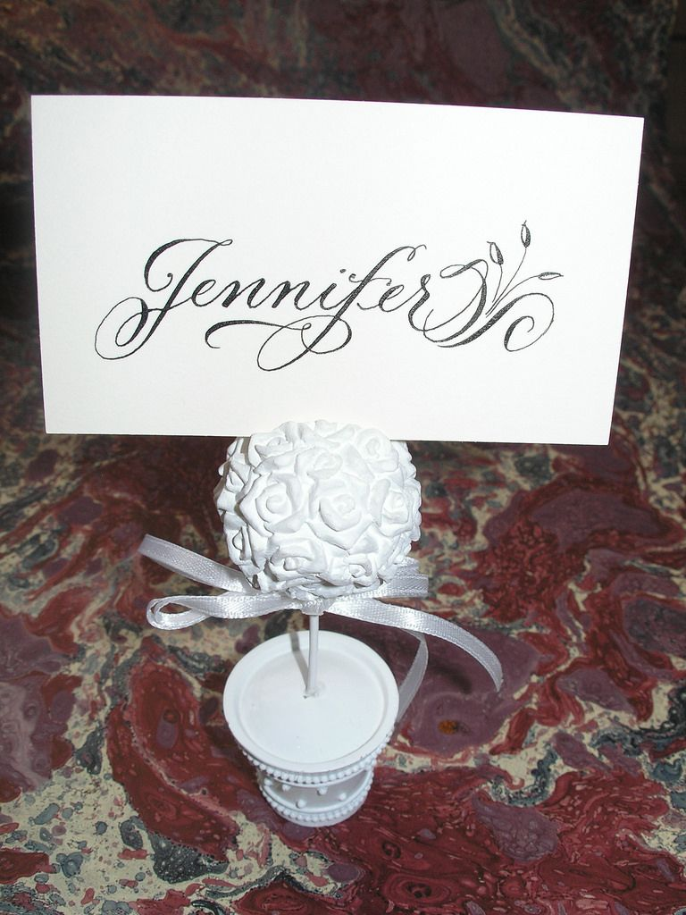 https://flic.kr/p/9Dkox3 | Place card in Calligraphy | Calligraphy done for a 40th birthday dinner party. Blogged at: weddingcalligraphybyjanefarr.blogspot.com/2011/04/40th-bi...