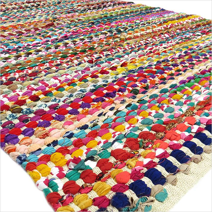 3 X 5 Ft Colorful Rag Rug Chindi Floor Mat Carpet Tapestry Indian Woven Handmade